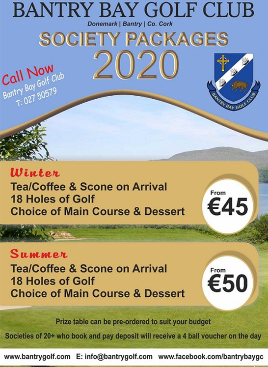 Golf Club Society Packages 2020